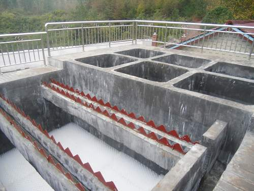 安徽省某县自来水厂斜管沉淀池圆满竣工图片